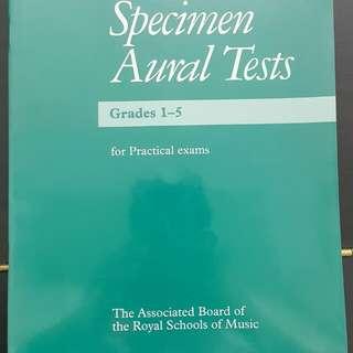 Specimen aural tests abrsm