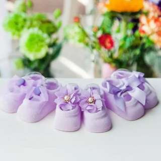 🦁Instock - 3pc purple assorted socks, baby infant toddler girl children glad cute 123456789 lalalala