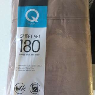 Sheet set queen size