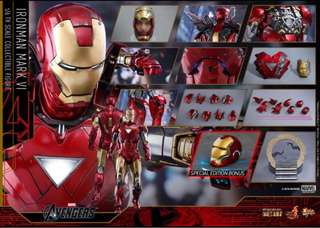 Hot toys diecast iron man mark 6