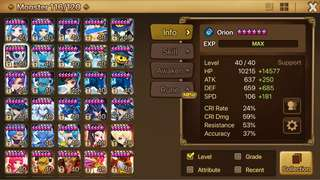 Wts Summoners War Asia G2 account. Crazy Runes