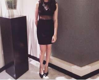 Zara Black seethrough Dress