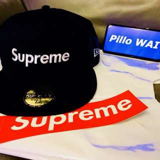 Supreme SS18 NAVY Mesh Box Logo New Era®