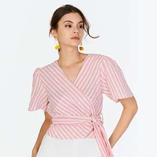 TCL Rayne Wrap top in pink