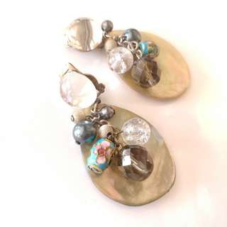 巴黎散步尋寶 古著 夾式耳環 打翻珠寶盒e30