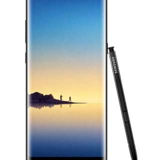 Samsung Note 8 with ext warranty till 2019