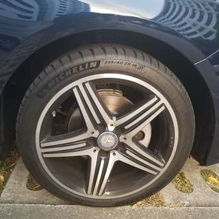 18 inch Genuine AMG wheels/rims
