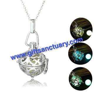 Glow-In-The-Dark Locket Necklace
