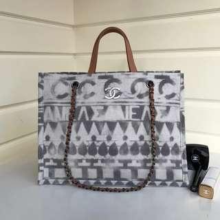 Chanel女士手袋帆布包橫款 專櫃同步