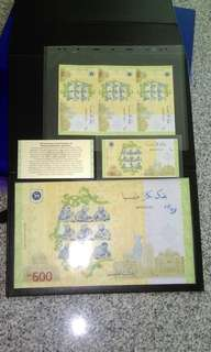 RM600, RM60 & uncut sheet commemorative notes