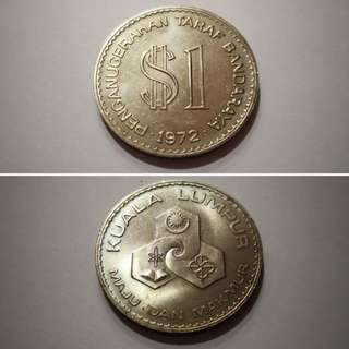 Commemorative RM1 Coin 1972