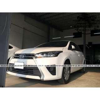 【FB搜尋桃園阿承】豐田 超人氣BIG YARIS 2016年 1.5 白色 二手車 中古車