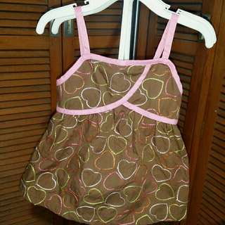 Cute Summer Brown & Pink Blouse with Shorts