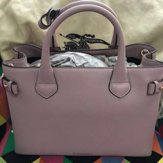 Burberry Banner Tote Medium Pale Orchid Authentic brand new RTP$2395