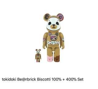 Tokidoki Bear brick Biscotti 400% + 100%