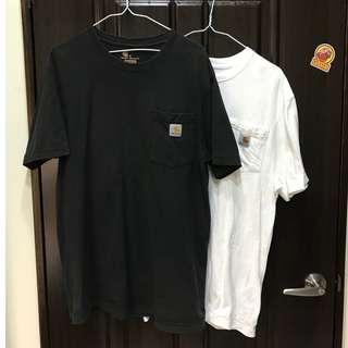 (二手 美版S號)Carhartt K87 Pocket Work Tee 重磅口袋T 黑白兩色一起賣