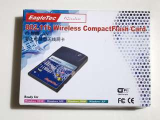 Eagletec 802.11b WiFi wireless compact flash 無綫網絡卡