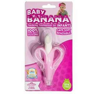 Banana Teether Toothbrush - PINK