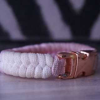 Paracord Bracelet [PINKWHITE]