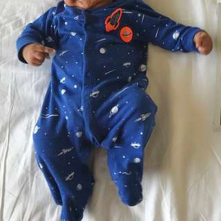 Carters Space Sleepsuit 3 months