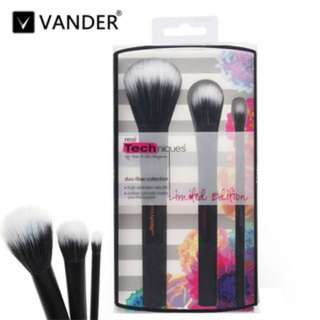 [PO171]3pcs RT black classic makeup brush fashion blush brush + box