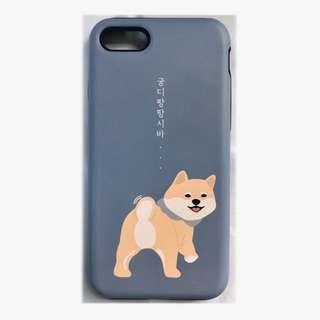 韓國 柴犬 iphone7 電話硬殼