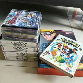 [ CLEARANCE ] Pokemon & Naruto CD, DVD, Movies, Episodes, Series CDs DVDs