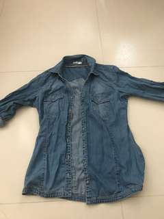 Casual denim shirt from Korea