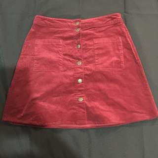 Velvet skirt (maroon)