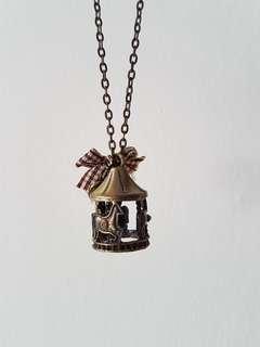 Carousel Bronze Long Necklace