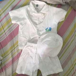 Baptism clothes set