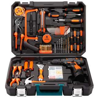 Professional Household Tools Set with Cordless 12v Lithium Drill + (Extra lithium Battery + EXECUTIVE GIFT PACK)  LIMITED STOCK***