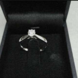 18K White Gold Diamond Ring with GIA Cert