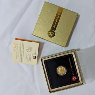SG50 999.9 Gold Proof Coin