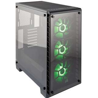 CORSAIR - Crystal Series 460X RGB Compact ATX Mid-Tower Case