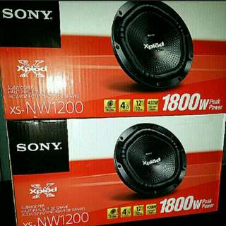 """SONY SUBWOOFER - SONY 12""""/ 30cm Subwoofer Speaker 1800 watts Peak Power with Dimpled polypropylene Cone  Usual Price: $199 Special.offer: $119. (Brand new in box & Sealed)."""
