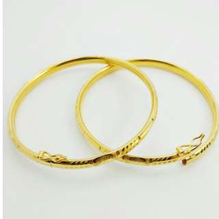 Bangle Fesyen Emas 916 New With Tag 7.19g