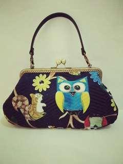 NEW Handmade 20cm Kisslock Fabric Handbag/Sling bag, Day /Night Out (HK 2210)