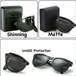 FOLDING WAYFARER BLACK