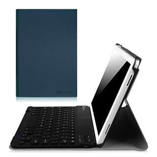 Fintie Samsung Galaxy Tab A 10.1 with S Pen Keyboard Case, Slim Shell Light Weight Stand Cover with Detachable Wireless Bluetooth Keyboard for Galaxy Tab A 10.1 with S Pen(SM-P580/P585), Navy