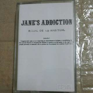 Music Cassette Tape: Jane's Addiction ‎– Ritual De Lo Habitual