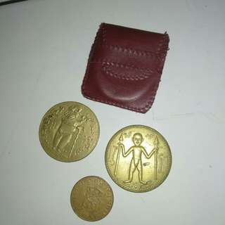 Koin tongkat yasin nabi Nuh + koin nederlandsch indie 1945