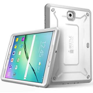 Galaxy Tab S2 9.7 Case, SUPCASE [Heavy Duty] Case for Samsung Galaxy Tab S2 9.7 Tablet [Unicorn Beetle PRO Series] Rugged Hybrid Protective Cover w/ Builtin Screen Protector Bumper (White/Gray)