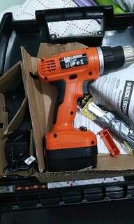 Black & Decker portable drill/screwdriver