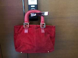 Fendi Antique handbag - red, suede