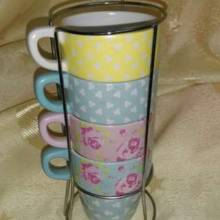 Cup 4pcs With tray