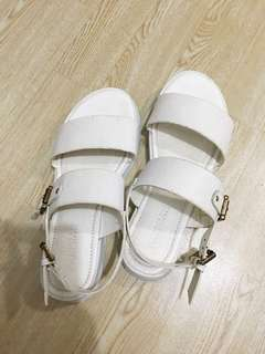 White Strapped Sandals