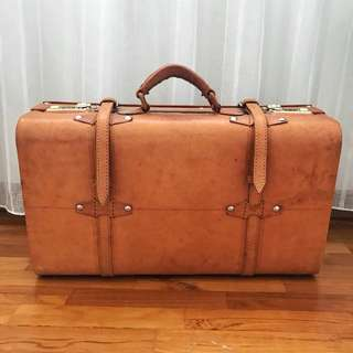 Vintage Duffel Briefcase Bag Baggage (Decor)