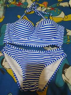 New Bikini Blue Stripes