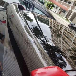 STI carbon fiber roof vane